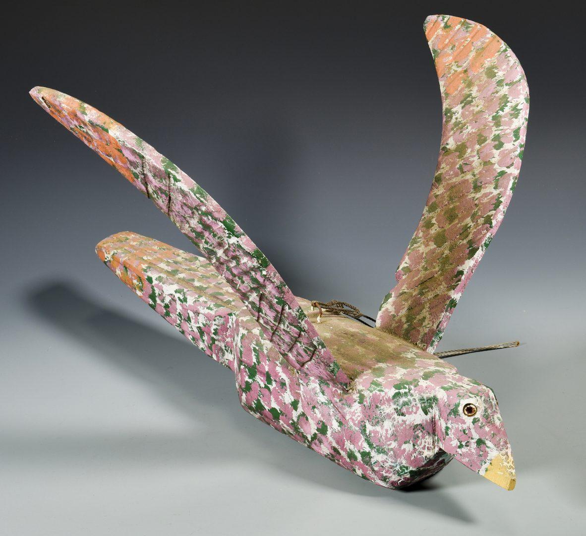 Lot 566: 2 Folk Art Birds,  attrib. Homer Green
