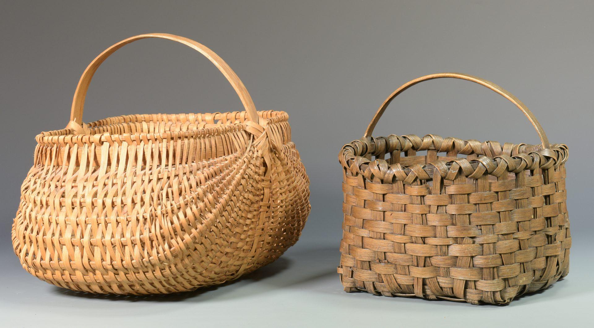 Lot 568: 5 Appalachian Split Oak Baskets