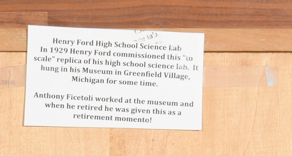Lot 569: Henry Ford Commissioned High School Science Lab Carving