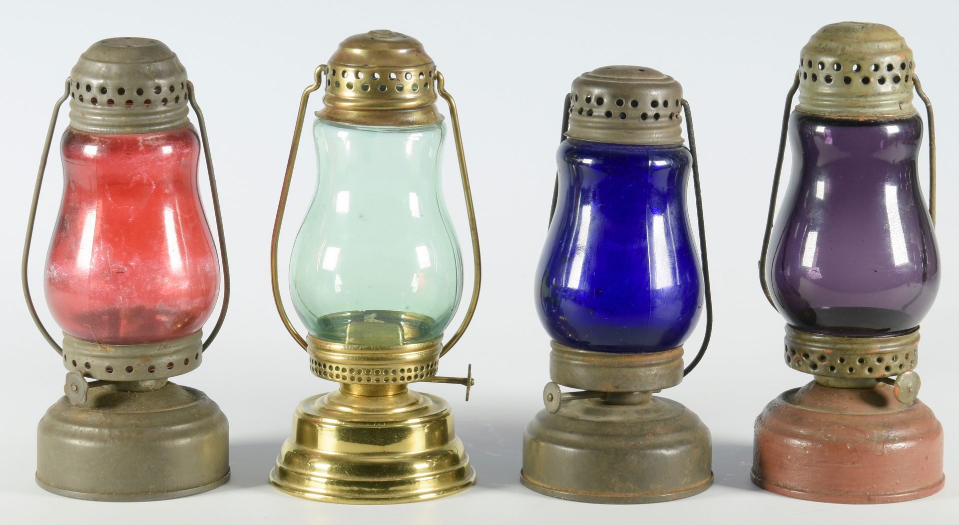 Lot 570: 7 Antique Skater's Lanterns