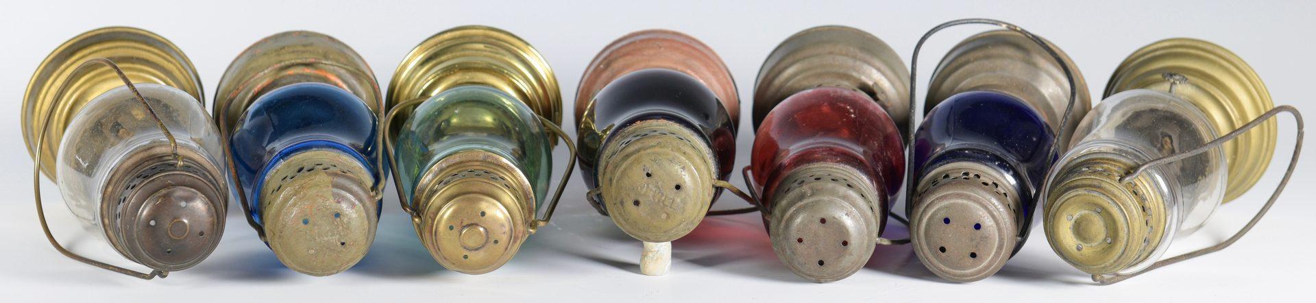 Lot 570: 7 Antique Skater's Lanterns