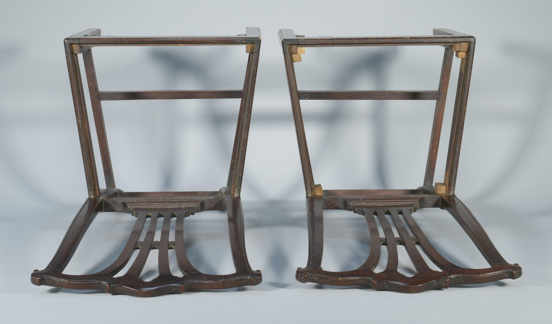 Lot 573: Pair of American Chippendale Side Chairs