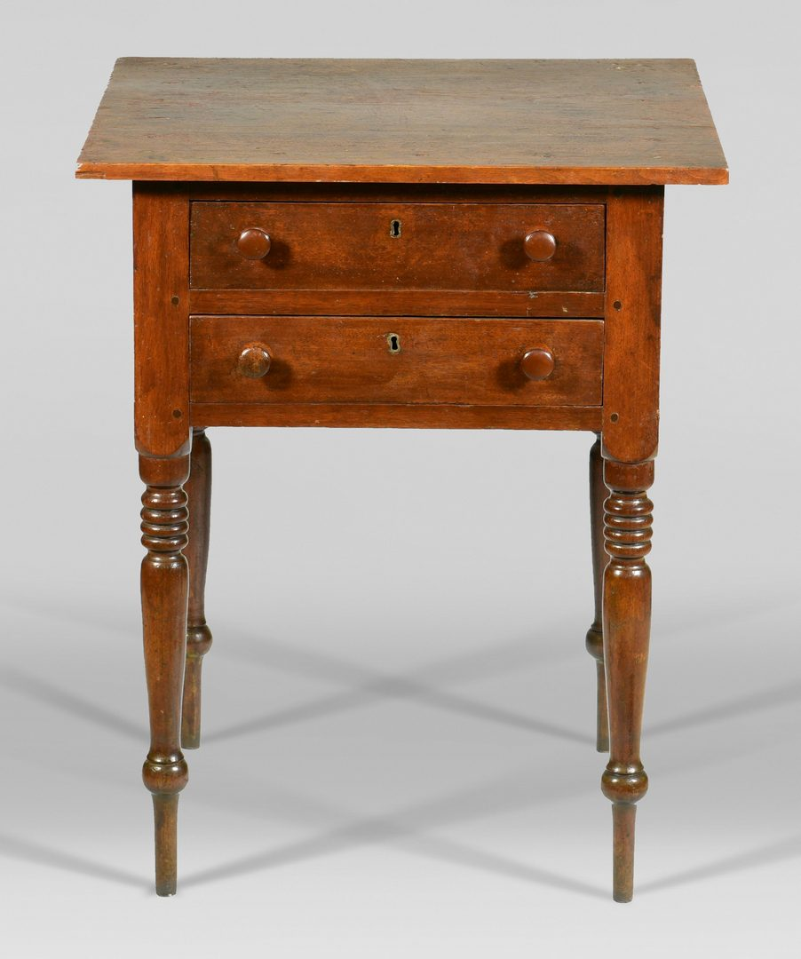 Lot 575: Tennessee Two Drawer Sheraton Stand