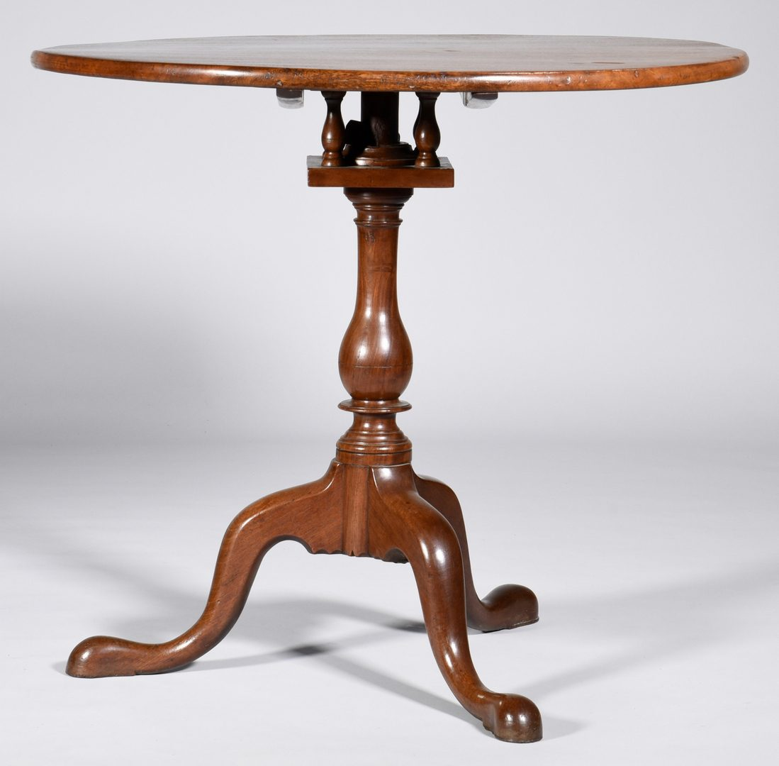 Lot 578: American Chippendale Tea Table, 18th c.