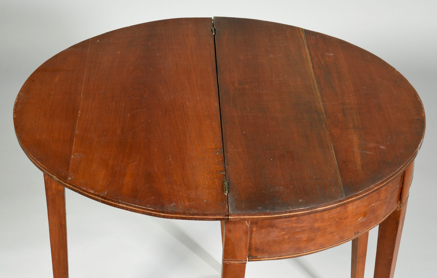Lot 579: Federal Inlaid Card Table, TN