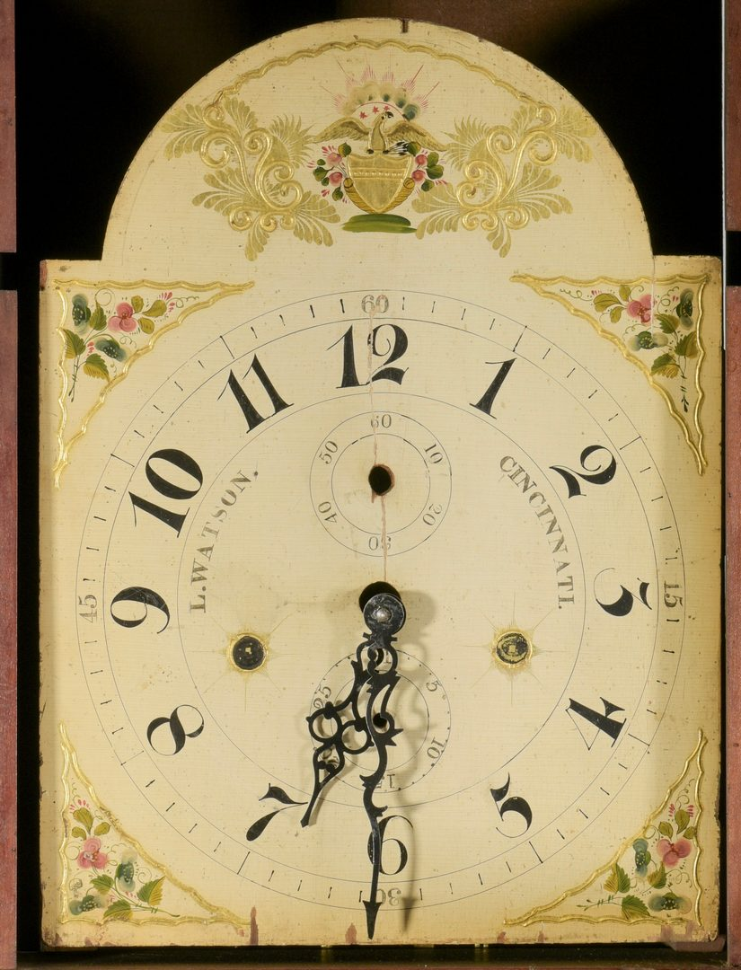Lot 580: American Tall Case Clock, Luman Watson Dial