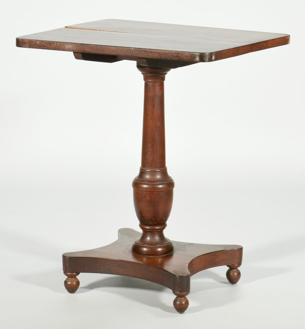 Lot 583: Classical Tilt top and Marble Top Pier Table, 2 items