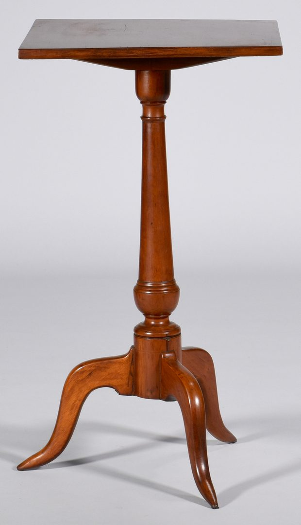 Lot 585: New England Maple Candle Stand.