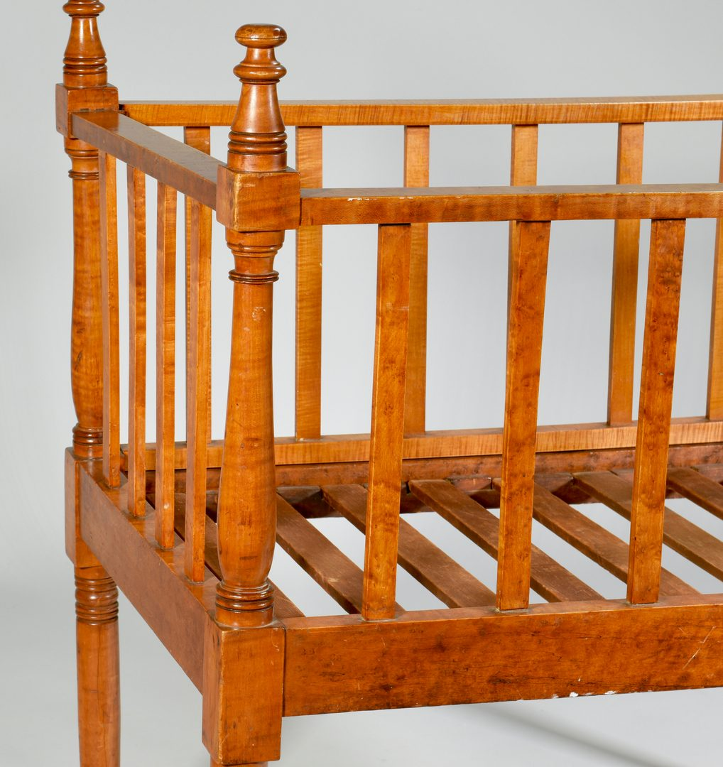 Lot 586: 19th century Maple Crib, poss. Tenn.