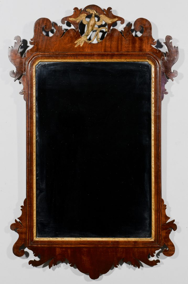 Lot 587: 18th Century Chippendale Mirror