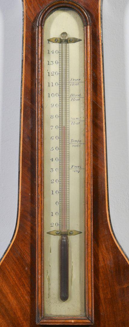 Lot 588: George III Inlaid Barometer