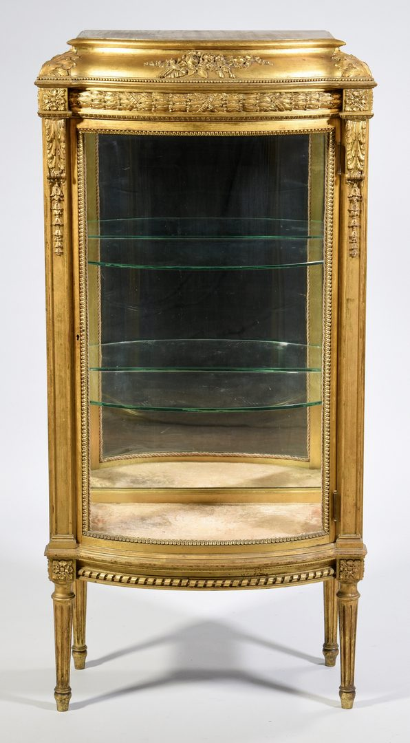 Lot 596: Louis XVI Style Giltwood Vitrine