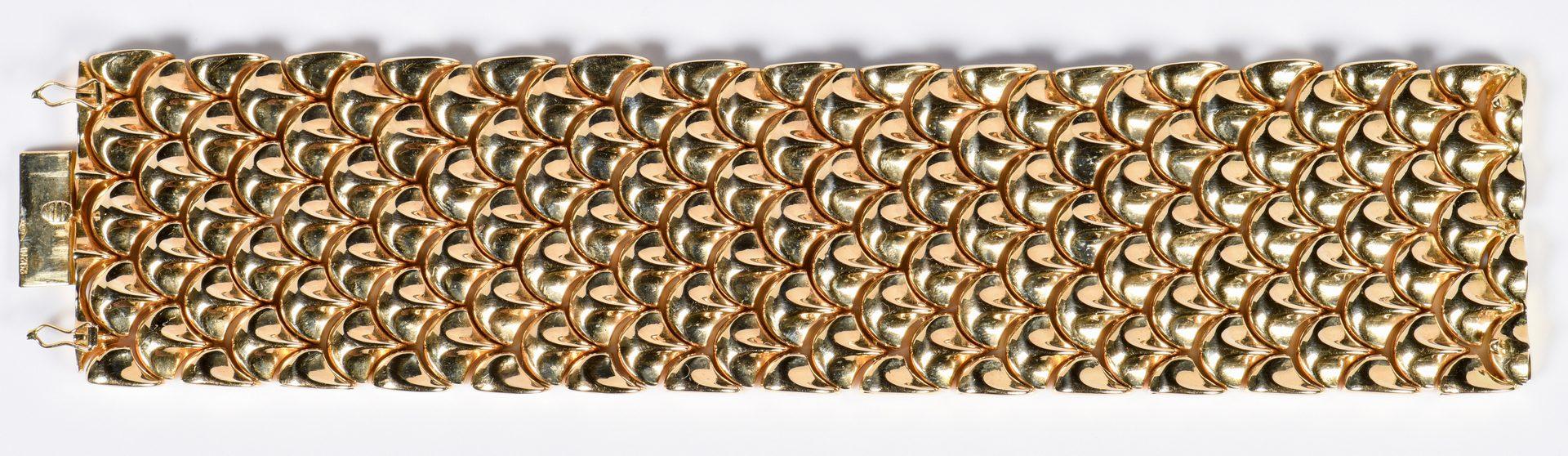 Lot 59: 18K Rose Gold Italian Link Bracelet, 90.7 Grams