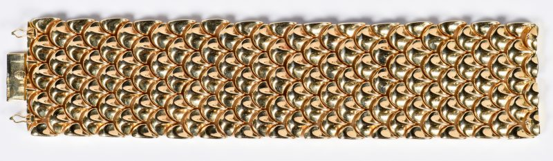 Lot 59: 18K Rose Gold Italian Link Bracelet, 90.7 Grams