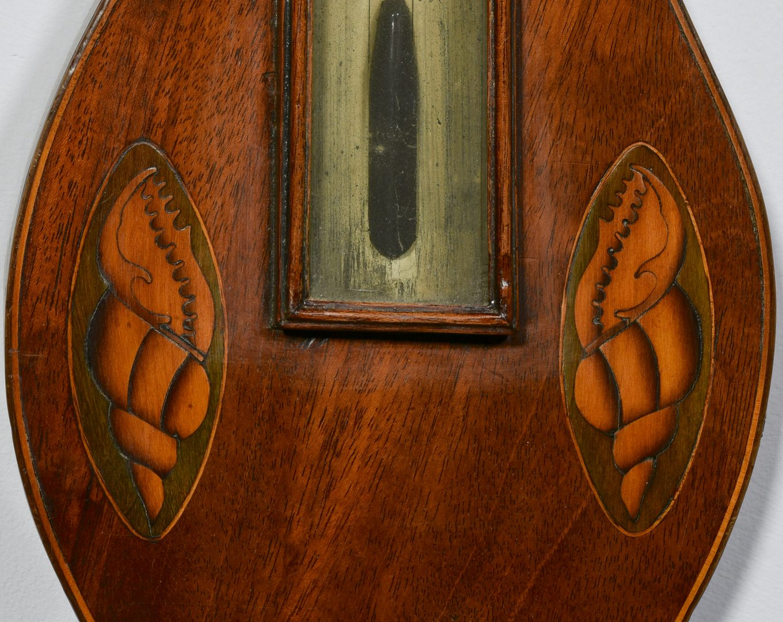 Lot 600: 19th Cent. English Banjo Barometer w/ Inlay