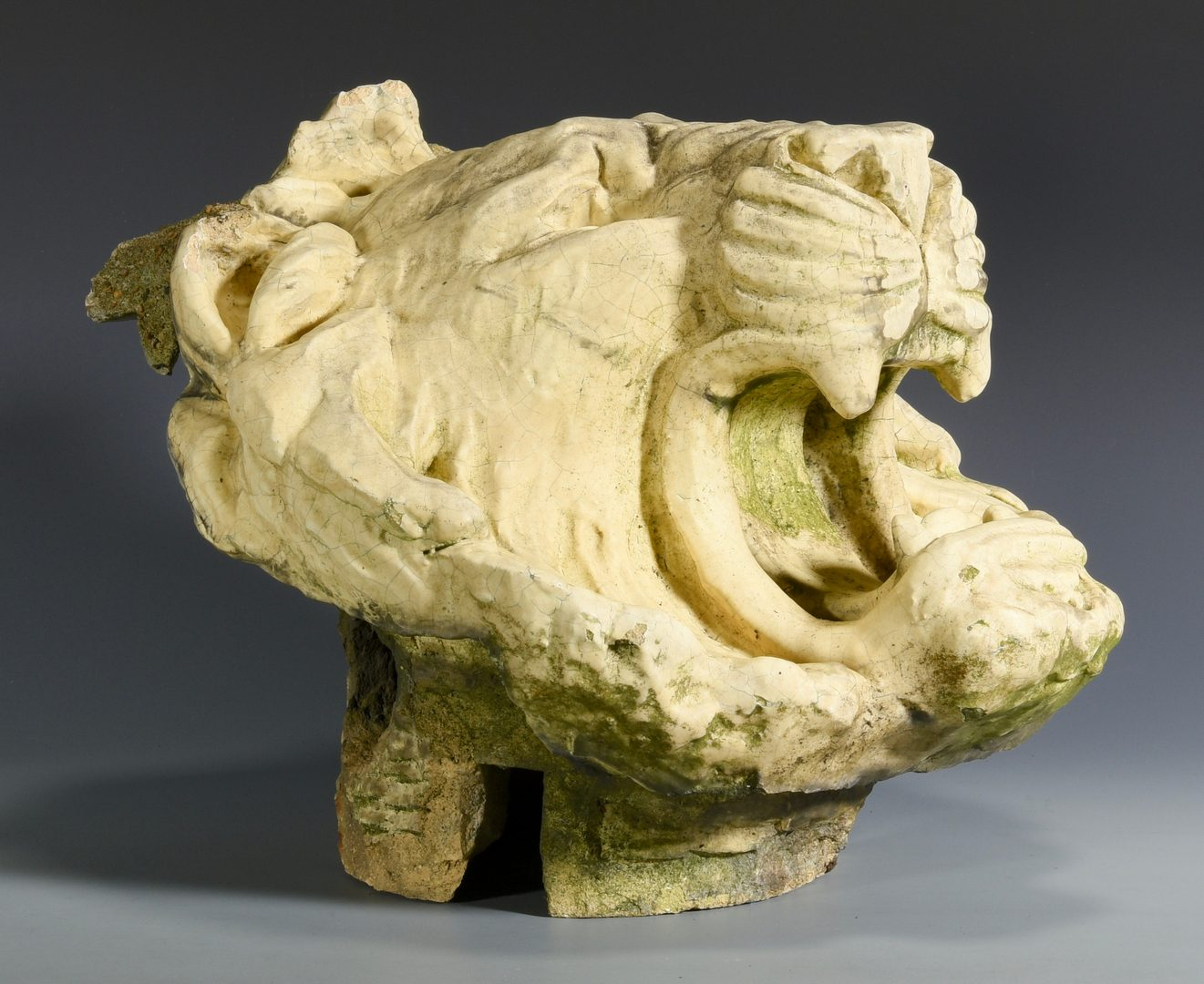 Lot 601:  Terra Cotta Lion Head from Hermitage Hotel