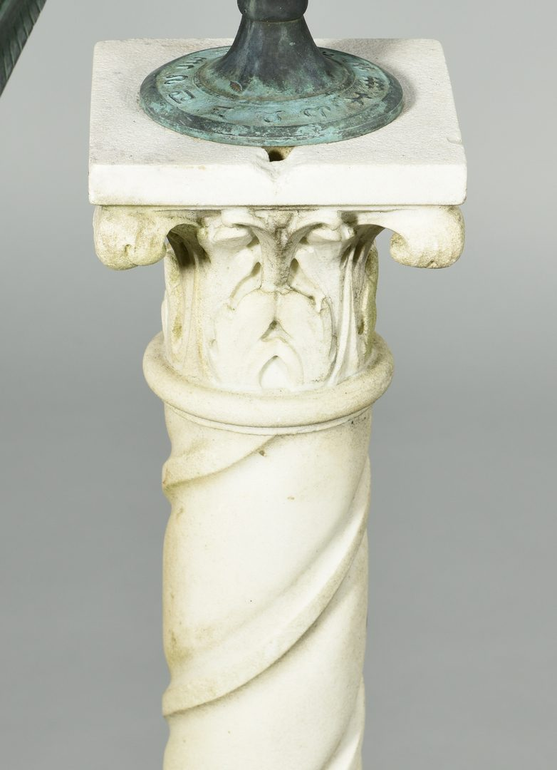 Lot 605: Armillary Sphere on Marble Pedestal