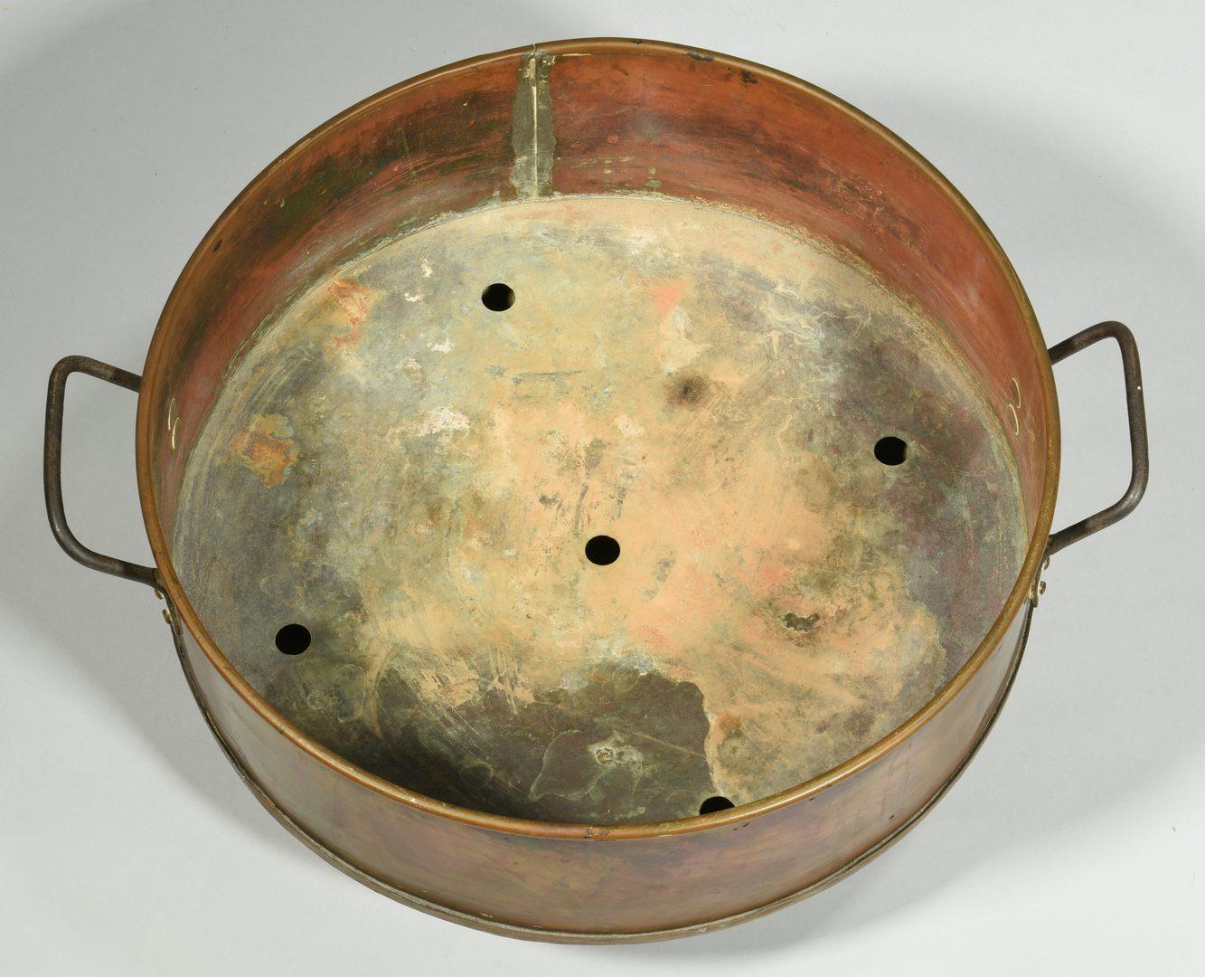 Lot 607: Copper & Iron Jardiniere