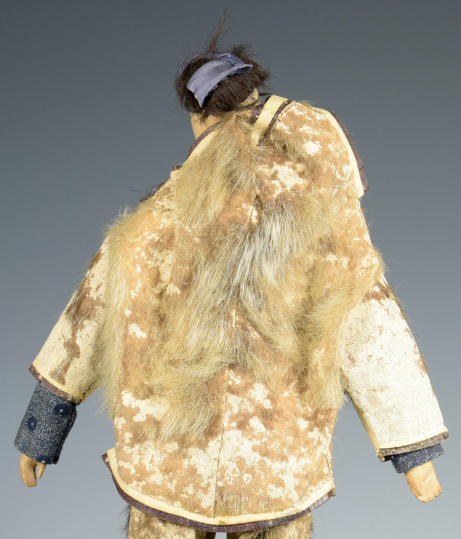 Lot 612: Eskimo Doll with Papoose, Elaborate Clothing