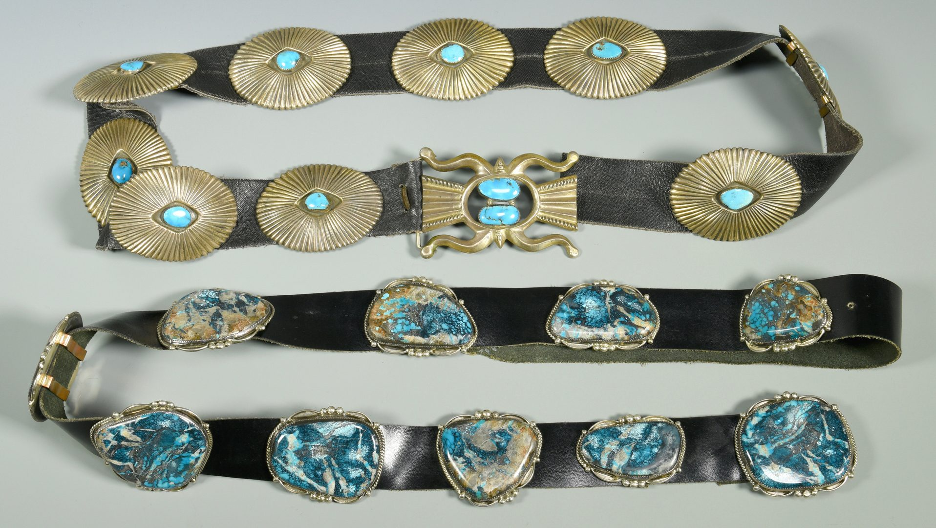 Lot 619: 2 Southwestern Belts, Old Pawn