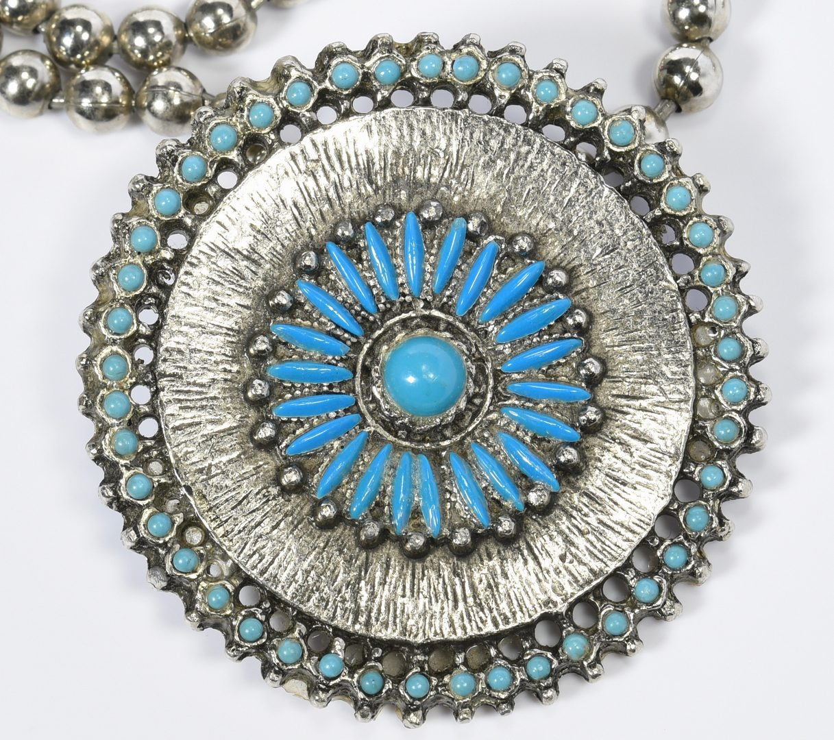 Lot 620: 3 Silver, Turquoise Necklaces inc. Singer