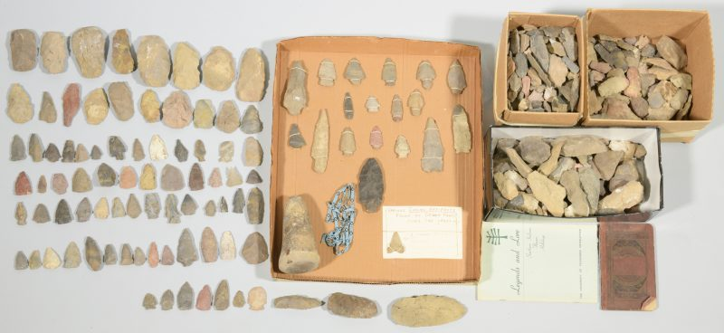 Lot 624: Native American Stone Artifacts, Devon Farm