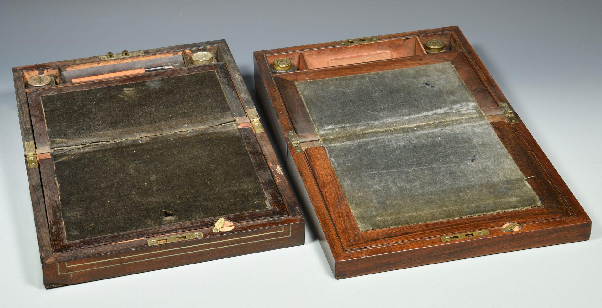 Lot 627: Three 19th century Lap Desks