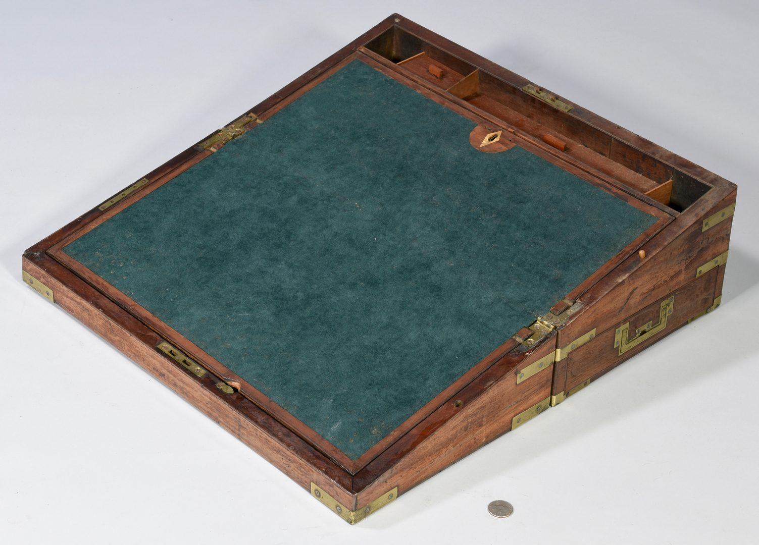 Lot 628: 19th c. Travel Boxes with Child's Chair