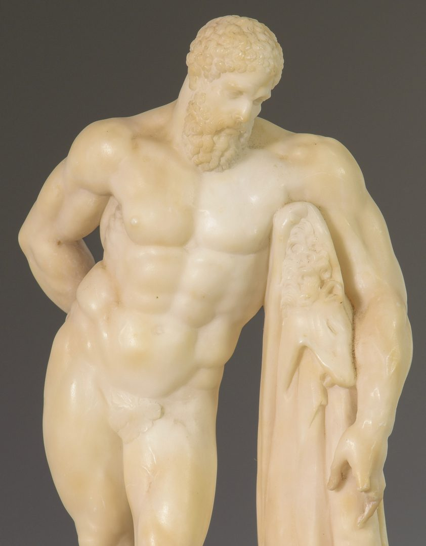 Lot 629: Hercules Figure & 2 Architectural Fragments