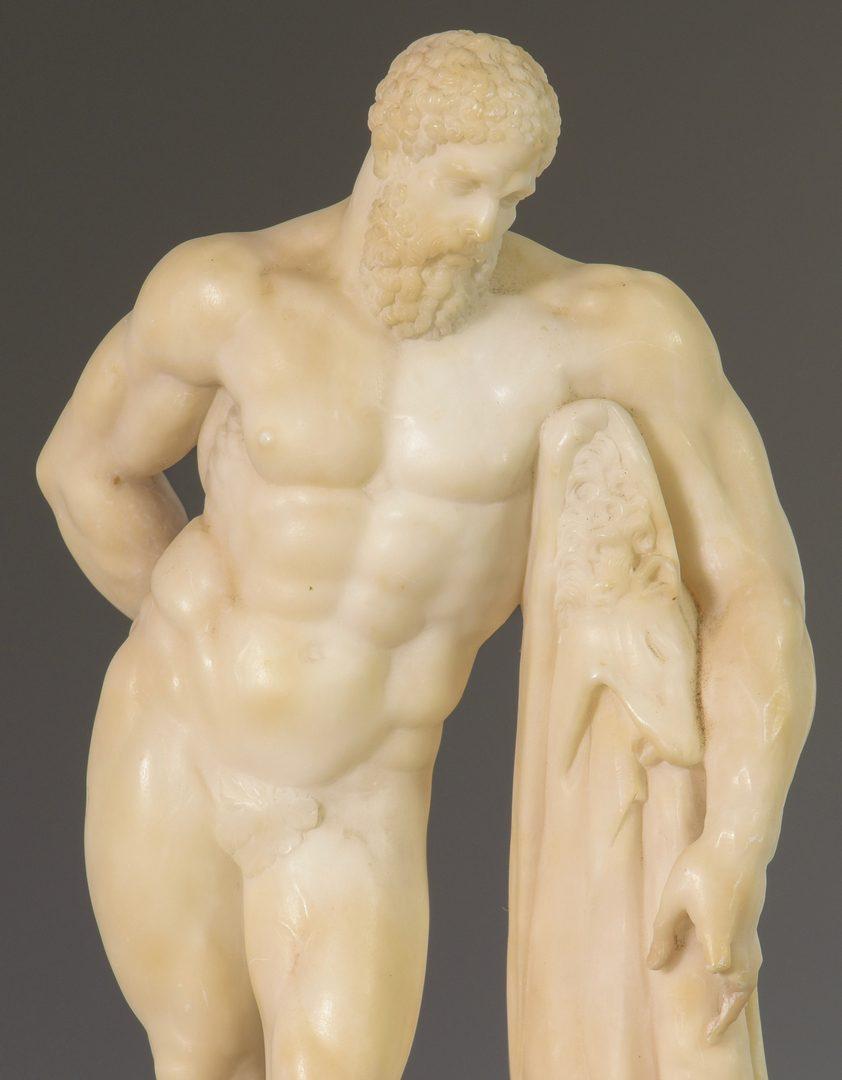 Lot 629: Hercules Figure & 2 Architectural Fragments