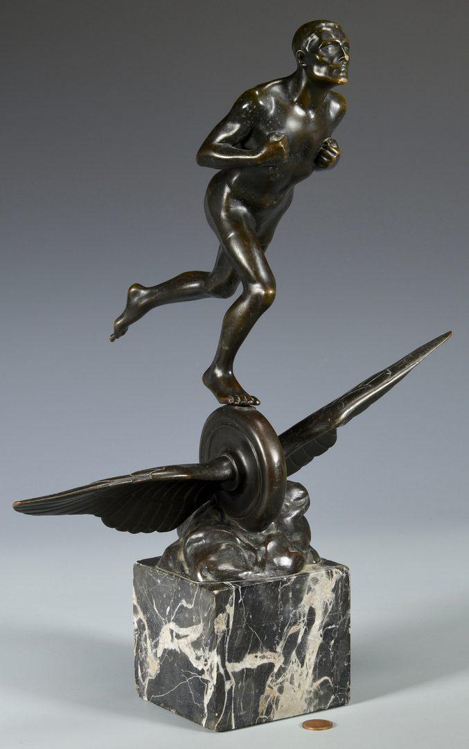 Lot 630: Hans Muller Figural Bronze, poss. Mercury