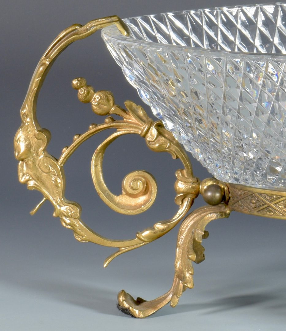 Lot 631: Bronze Mounted Crystal Centerpiece Bowl