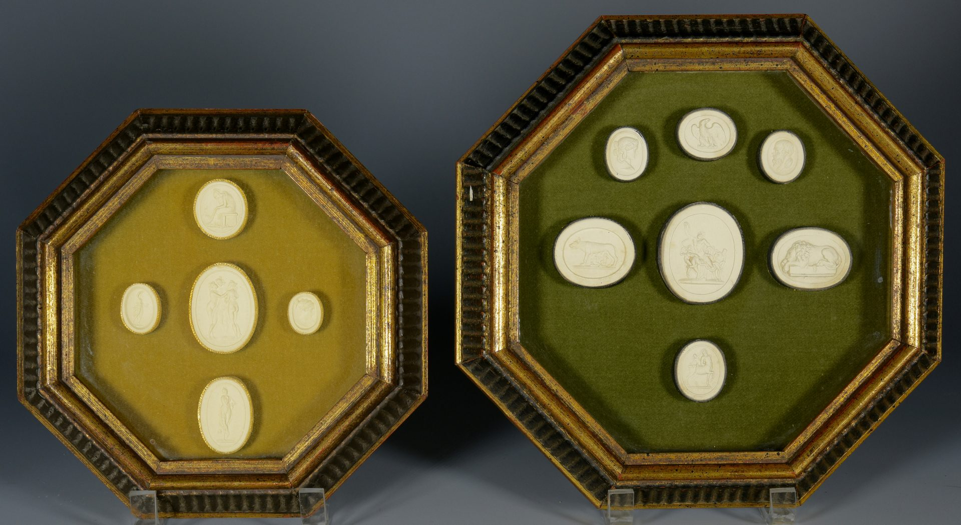 Lot 634: Collection of Porcelain Medallions