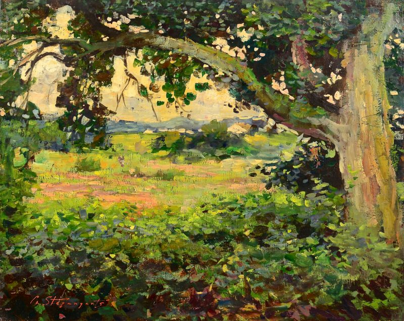 Lot 637: G. Stepanyants, oil on canvas, Landscape
