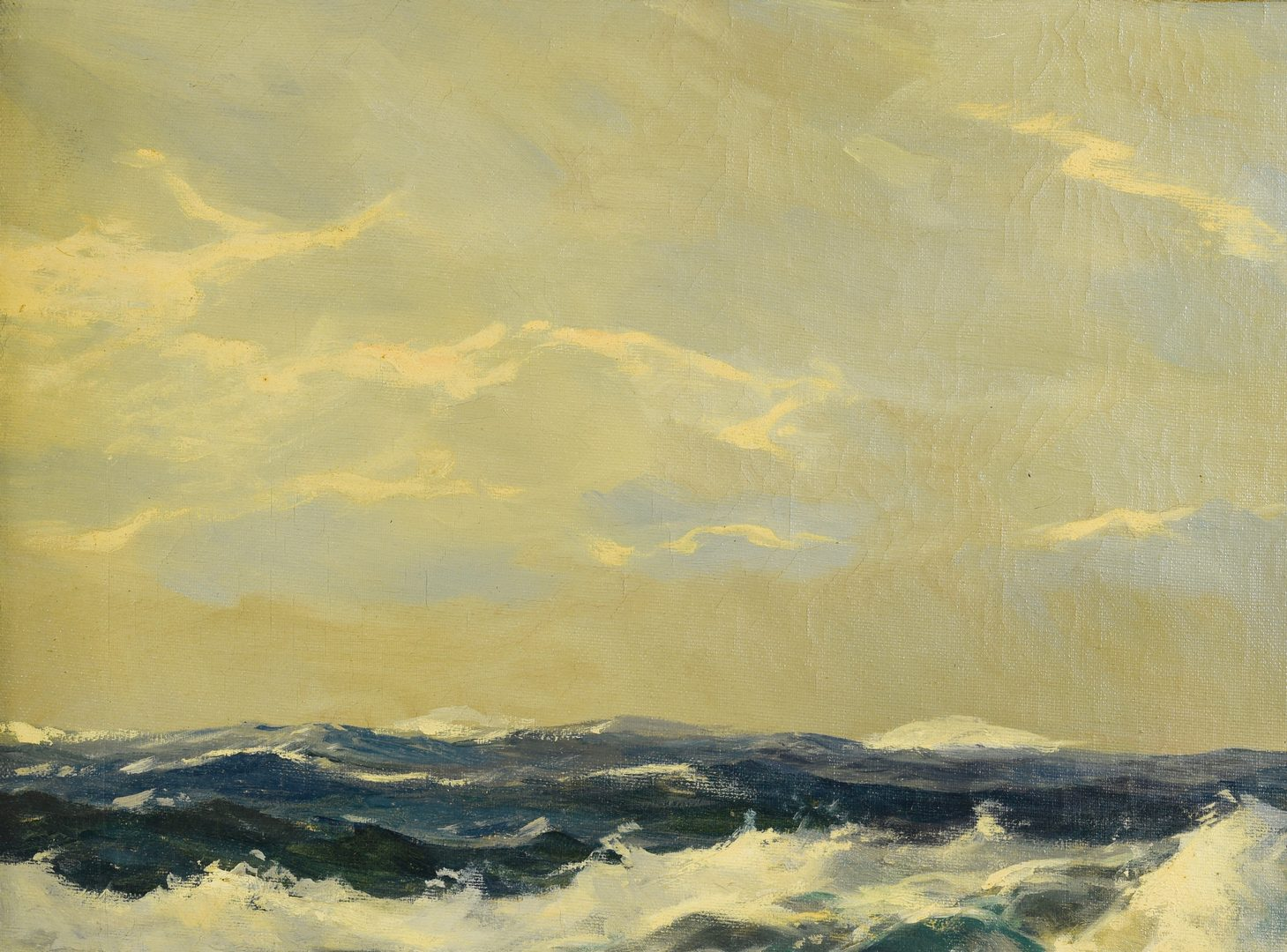 Lot 640: Frank Ferruzza Oil on Canvas Seascape