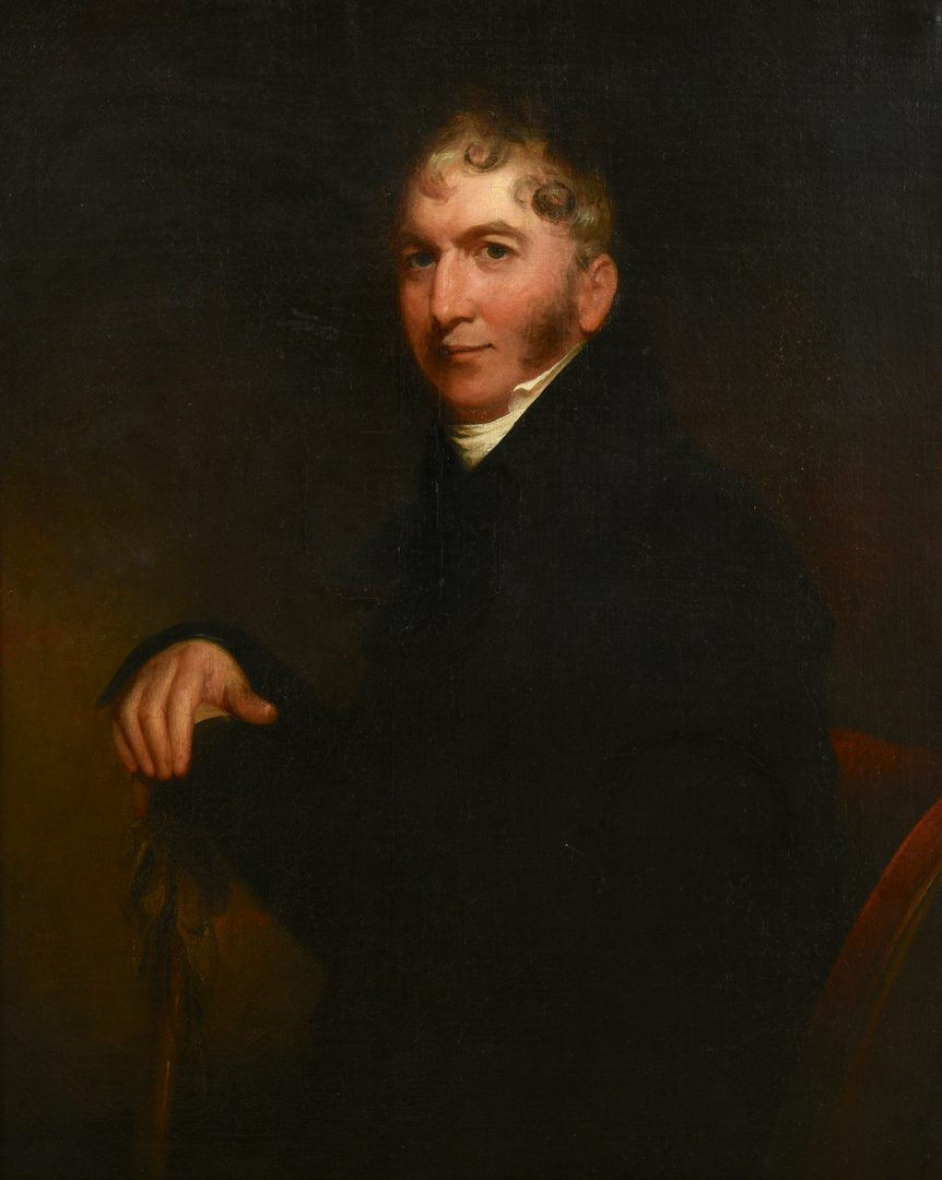 Lot 642: American School Portrait of a Gentleman