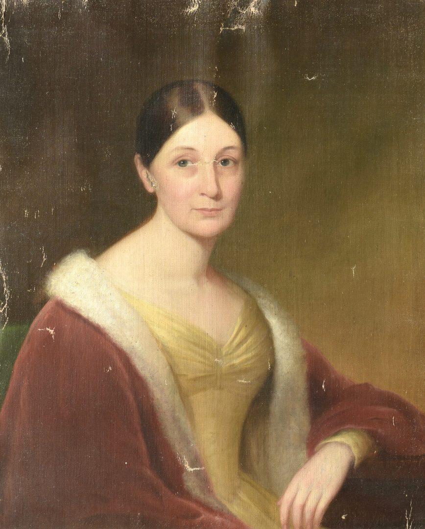 Lot 643: American School, Portrait of Mrs. Pendleton