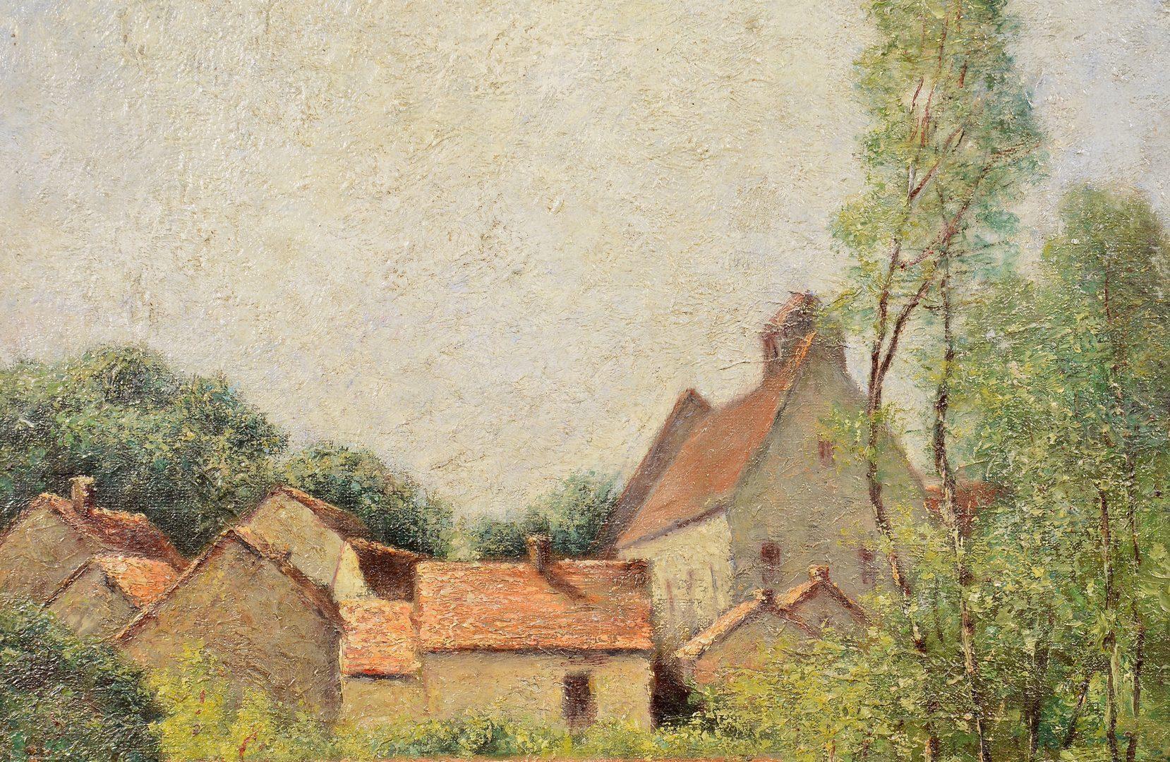 Lot 646: Fluhart Williams O/C French Village Scene