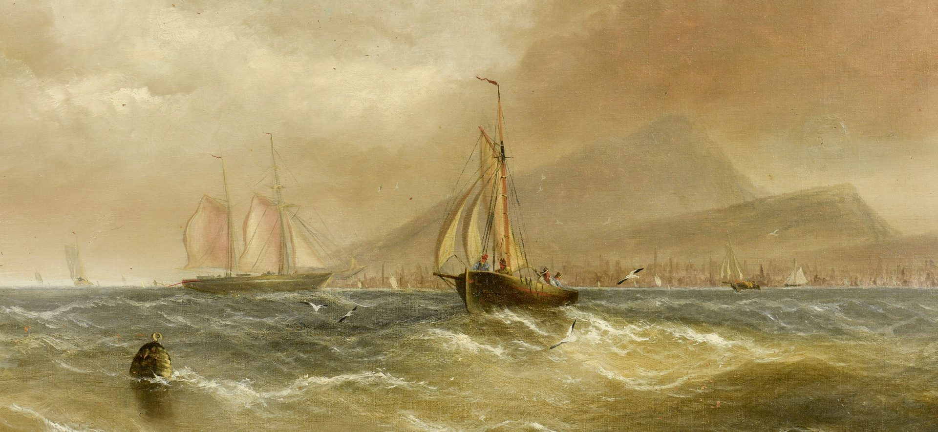 Lot 653: James. W Bartholomew Marine Painting