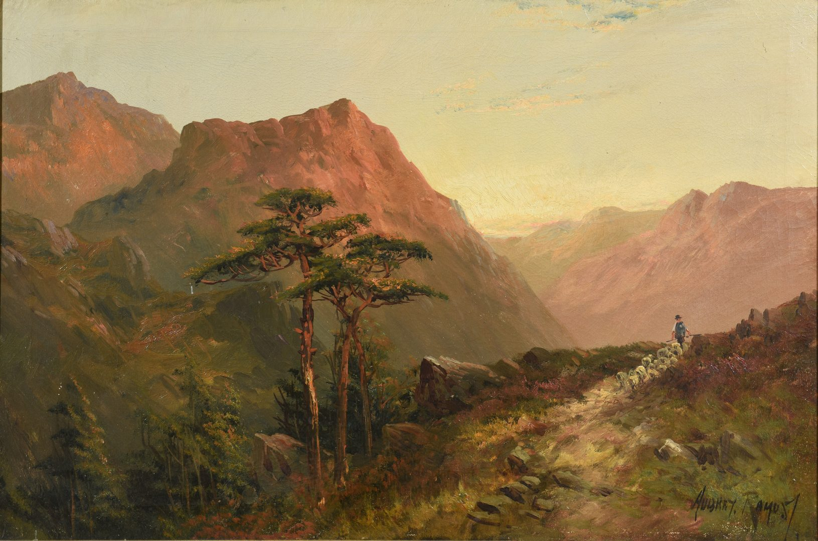 Lot 654: Francis E Jamieson Oil on Canvas Landscape