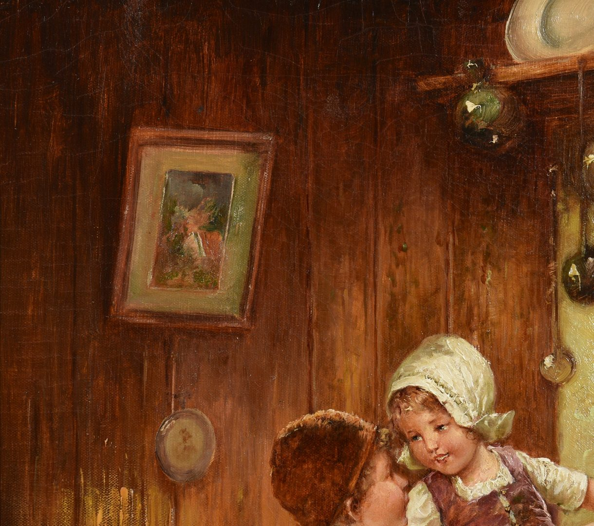 Lot 657: Fritz Fig Oil on Canvas of Children