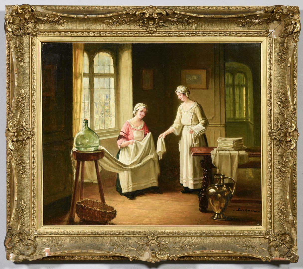 Lot 658: Albert Sorkau Oil on Canvas