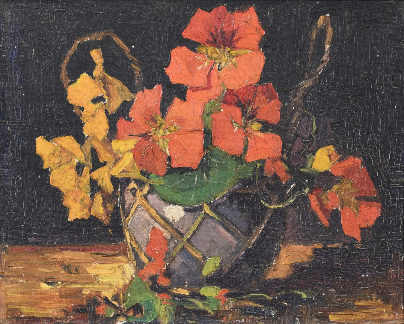 Lot 659: Impressionistic Still Life of Flowers