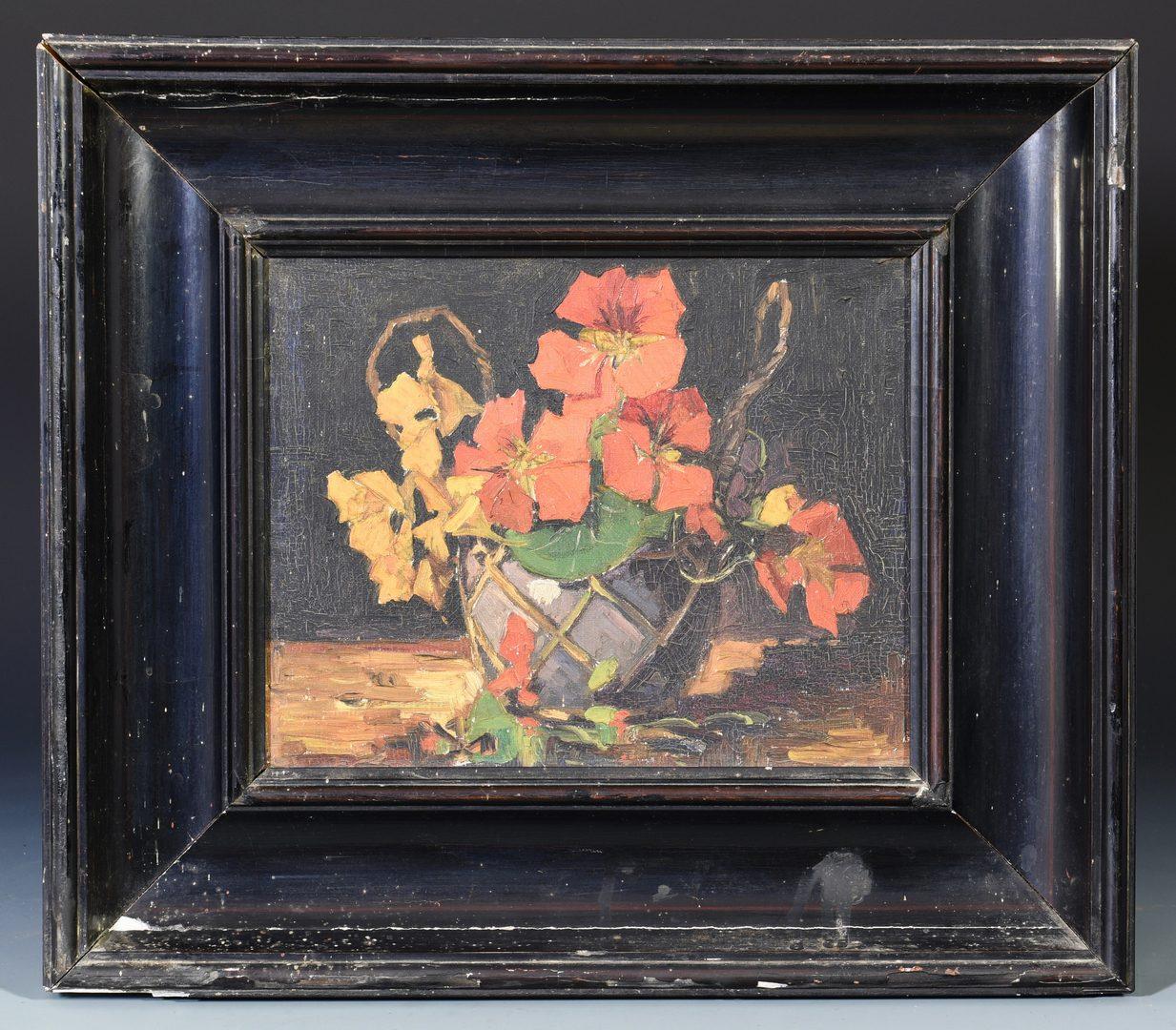 Lot 659: Impressionistic Still Life of Flowers