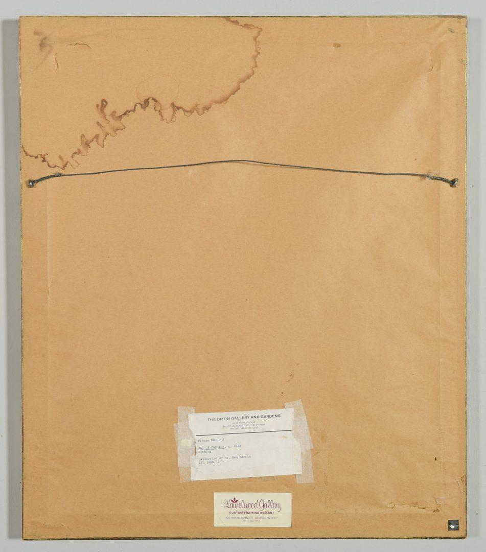 Lot 663: Pierre Bonnard Etching, The Joy of Farming