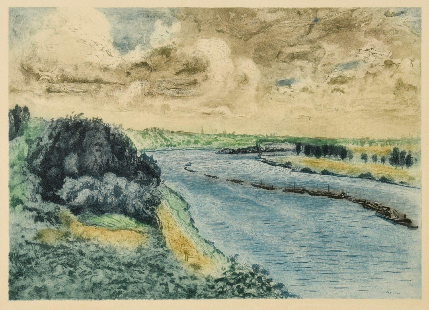 Lot 664: Renoir Etching, Chalands sur la Seine