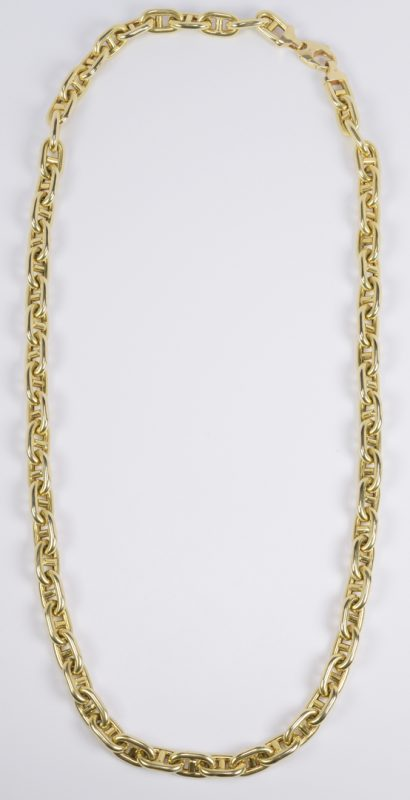 Lot 66: 14K Heavy Gucci Link Necklace, 132 grams