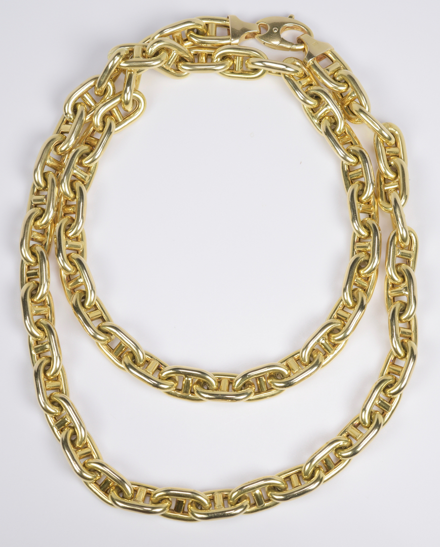 Lot 66: 14K Heavy Gucci Link Necklace, 132 grams