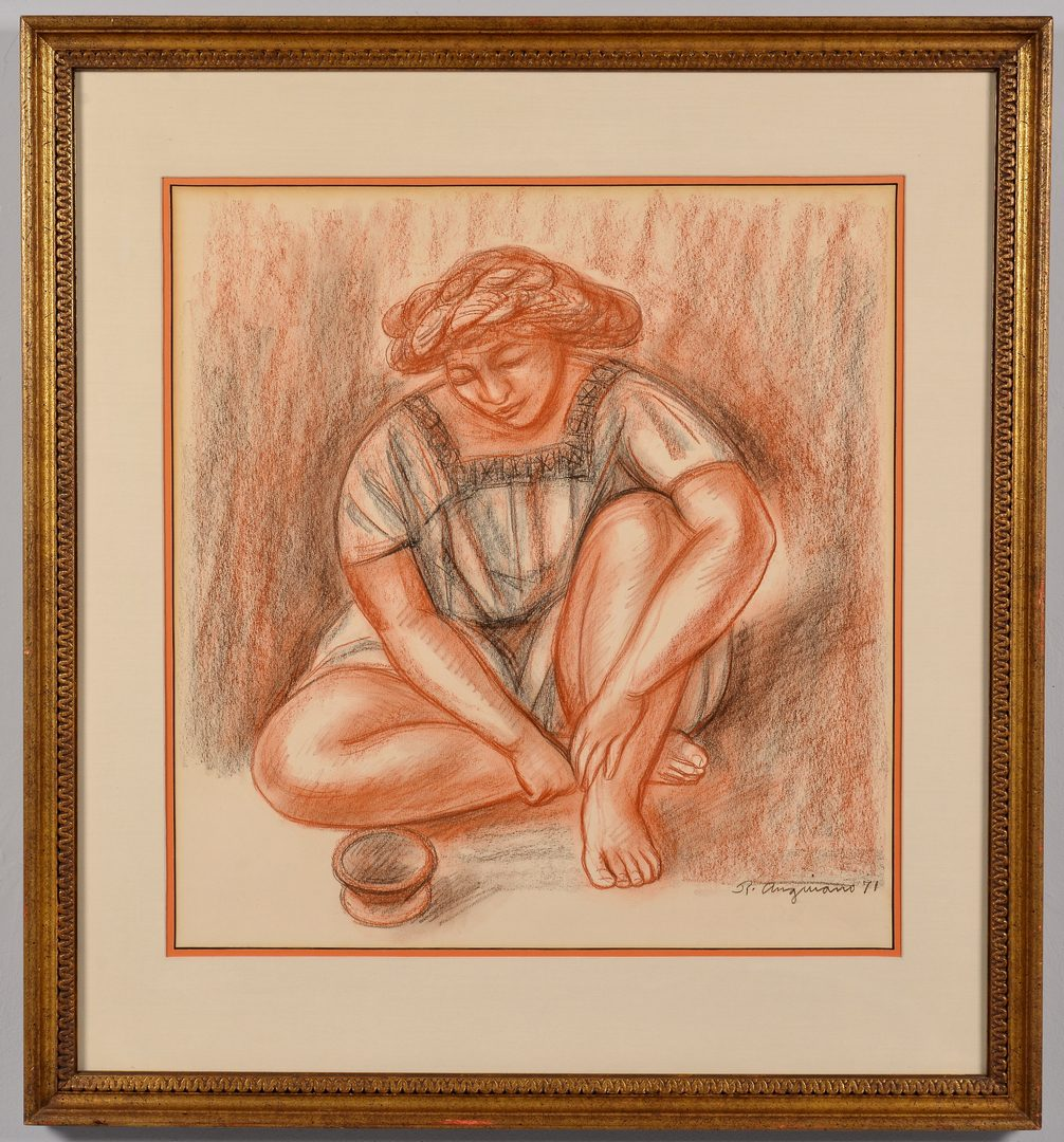 Lot 670: Raul Anguiano Drawing of Female