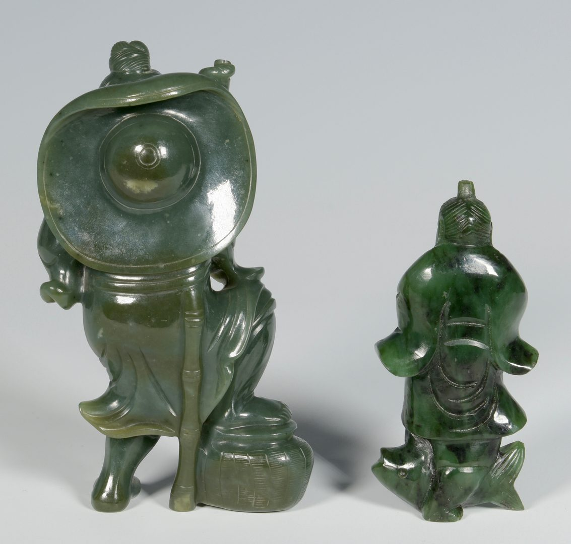 Lot 675: Carved Jade and Hardstone Figures with fish